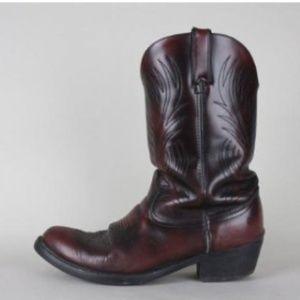 Vintage 80s Durango Leather Cowboy Boots